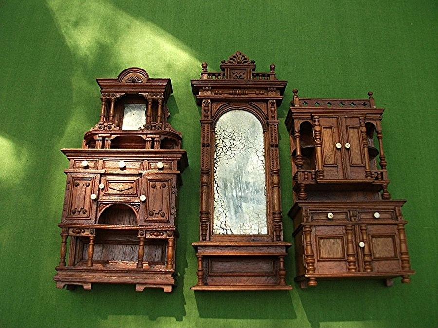 Möbel Aus Puppenhaus Um 1892